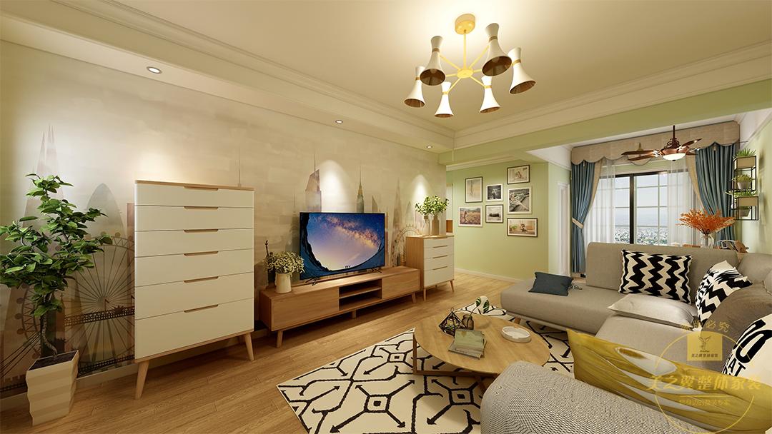 【美美公馆】现代北欧风 两居室 87m²