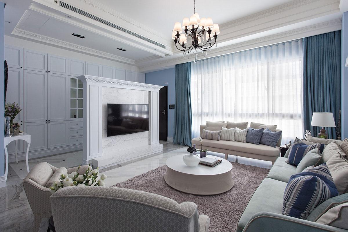 【北辰三角洲】三居室 美式新古典风 114m²